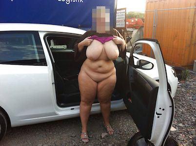 Mollige Frau aus Flensburg will Sex im Auto